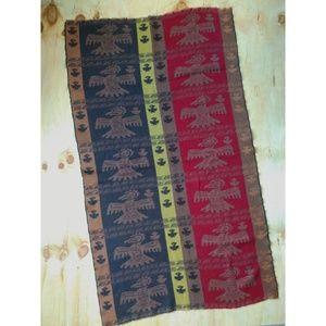 Vtg Thunderbird Blanket Scarf